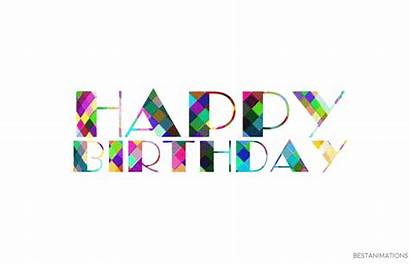 Birthday Happy Gifs Colorful Animated Cake Wishes