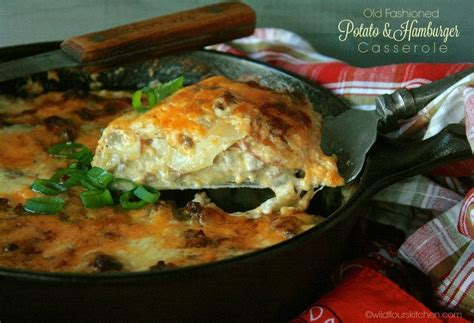 Cheese Scalloped Potato And Hamburger Casserole