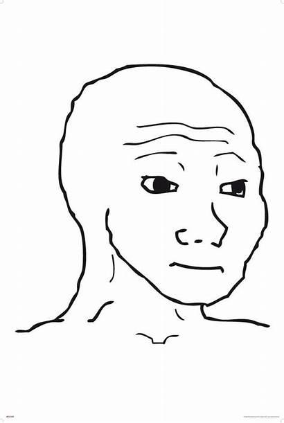 Face Meme Troll Rage Wojak Feel Sad