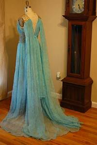 Daenerys Qarth Blue and Gold Gown Dress Costume Custom by ...