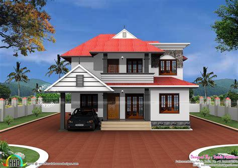 tag keralahomedesign sq sq ft floor sloping roof house fondos de pantalla
