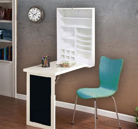 floating folddown desk table wall cabinet chalkboard