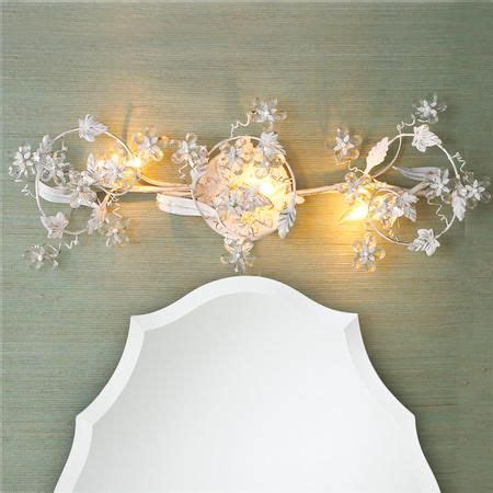 Shabby Chic Bathroom Light Fixtures by Flowers Bath Light In White Gold Or Bronze For