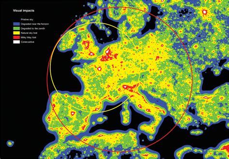 Carte Pollution Lumineuse Info by Un Tiers De L Humanit 233 Priv 233 De Ciel 233 Toil 233 Par La