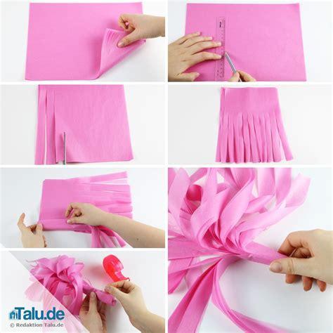 pompons selber machen servietten basteln pompons selber machen ideen aus seidenpapier wolle talu de