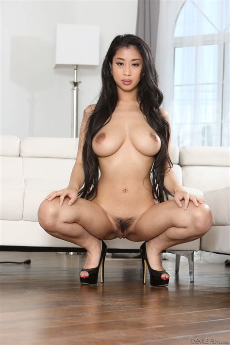 Asian Jade Kush With Big Tits And Hairy Pussy Jumps On A