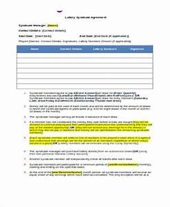 8 lottery syndicate agreement form samples free sample With euromillions syndicate agreement template