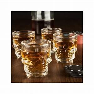 Verre A Whisky Tete De Mort : verres shooters t tes de mort x 4 cadeau maestro ~ Teatrodelosmanantiales.com Idées de Décoration