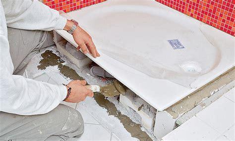 duschwanne einbauen mit wannenträger bette duschwanne superflach einbau superflach rechteckige duschwanne by bette bette
