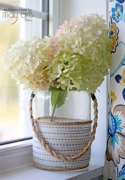 upcycled home decor upcycled home decor altered jar may arts wholesale ribbon company