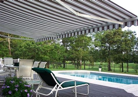 pool side retractable awning modern patio  york  eclipse retractable awning
