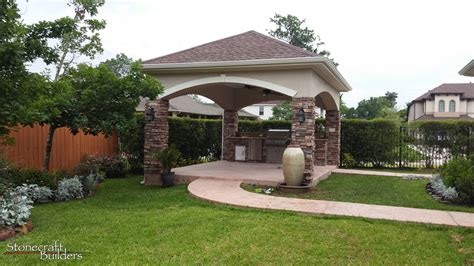 Outdoor Patio by Outdoor Covered Patio Builders In Houston Stonecraft