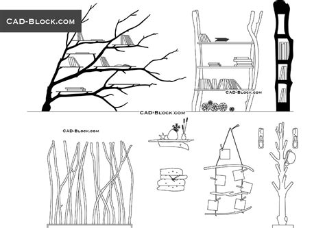 wooden decoration cad drawings cad blocks
