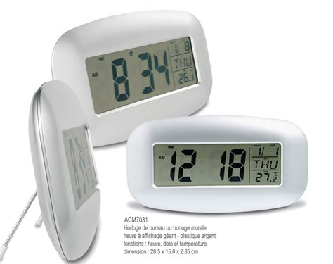 horloge de bureau electronique high tech objets publicitaires etui pour
