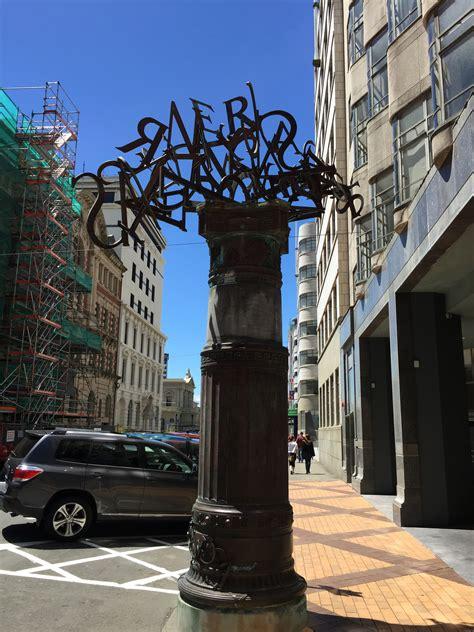 sculpture  letters  wellington  zealand image