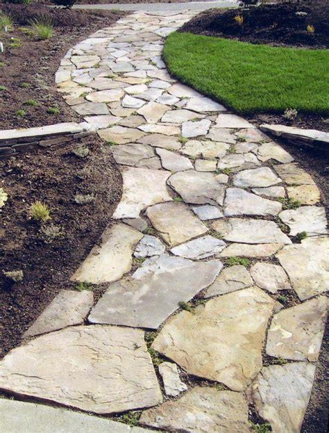 Beautiful Garden Paths Made Of Natural Stone  Quiet Corner