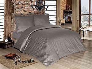 Bettwäsche 200x200 Grau : h bsche bettw sche aus damast grau 200x200 von lesara ~ Watch28wear.com Haus und Dekorationen
