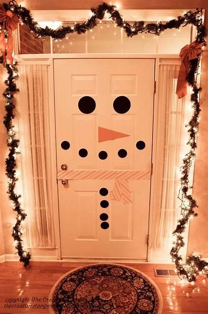 Indoor Christmas Decoration Door Snowman There Homebnc