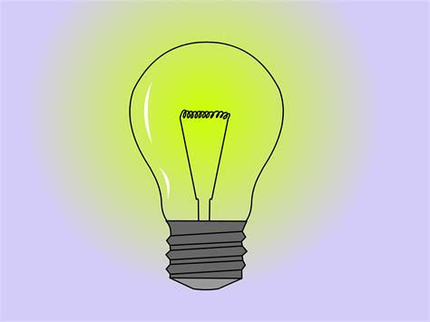 How To Draw A Light Bulb by How To Draw A Light Bulb 14 Steps With Pictures Wikihow