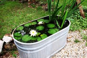Galvanized Water Trough Bathtub by 10 Easy Steps To Create A Simple Backyard Pond With Children