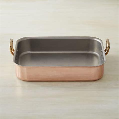 mauviel copper tri ply roasting pan williams sonoma