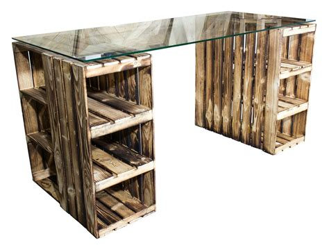 Tisch Aus Weinkisten Mit Glasplatte by ᐅᐅ Weinkisten Tisch Schreibtisch Mit Glasplatte