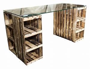 Weinkisten Holz Gratis : weinkisten tisch schreibtisch mit glasplatte holzkisten shop ~ Orissabook.com Haus und Dekorationen