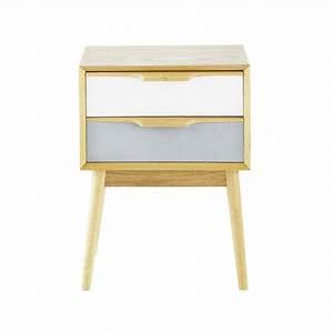 Table de chevet vintage en bois L 42 cm Fjord Maisons du Monde