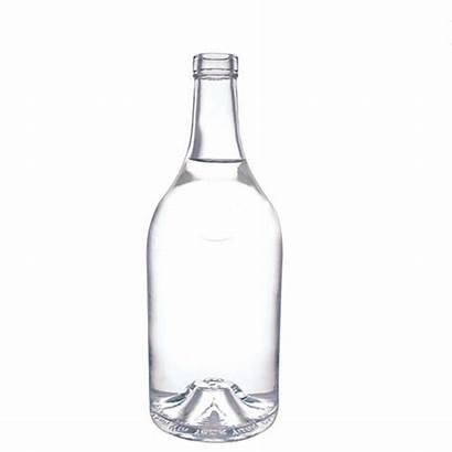 Bottle Glass Liquor Bottles 700ml Round Shape