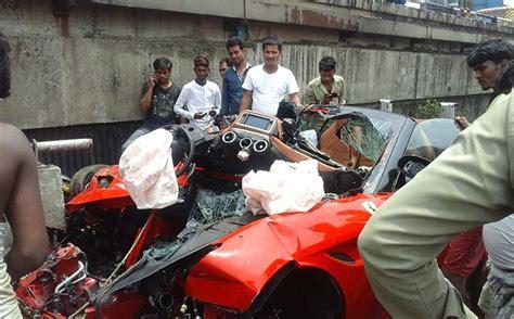 600 x 450 jpeg 47 кб. Kolkata Businessman Rams Ferrari Worth 3.13 Crore Into Flyover At 120 Kmph, Dies On The Spot