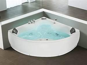 Baignoire D Angle 130x130 : whirlpool indoor jacuzzi bubbelbad spa hoekbad ~ Edinachiropracticcenter.com Idées de Décoration