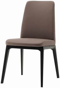 Lausanne Dining Chair  Bahia Stone Leather  Black Stained Oak Veneer