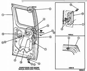 1993 Ford Econoline  V6  Rear Door  Assembly  The Right