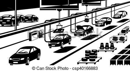 Car Assembly Line  Vector Illustration Vector Search