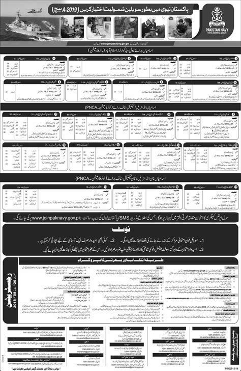 Join Pak Navy Civilian Registration B 2019 Termurah 2018