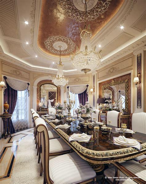 luxury mansion interior qatar dining