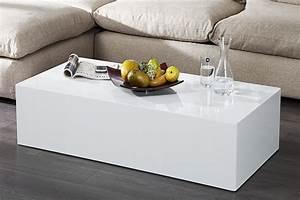 Table Basse Rectangulaire Blanche : table basse rectangulaire blanche table basse reglable trendsetter ~ Teatrodelosmanantiales.com Idées de Décoration