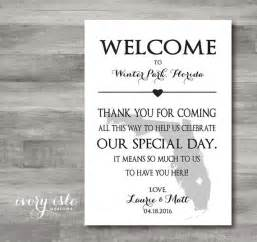wedding rental supplies custom state welcome note tag for wedding weekend printable