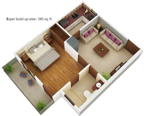 3 bhk flat by sarita 585 sq ft 1 bhk 1t apartment for sale in radhika group homes sector 4 noida extension noida