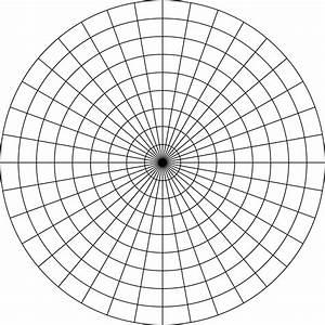 Polar Graphs Polar Grid In Degrees With Radius 9 Clipart Etc