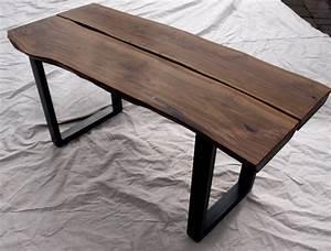 live edge walnut coffee table With live edge black walnut coffee table