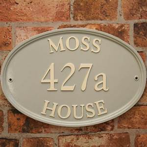 Large, Oval, House, Signs