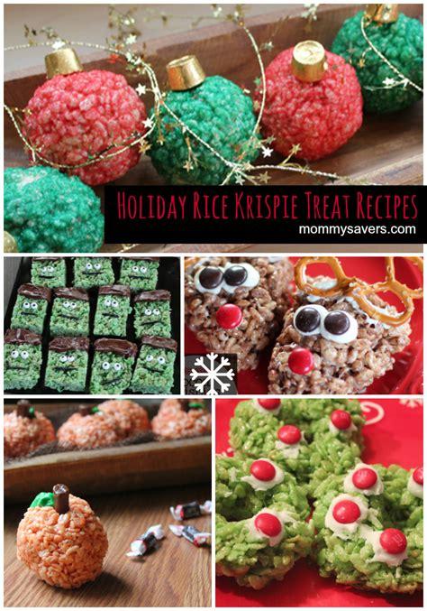 christmas treats recipes 5 holiday rice krispie treat recipes mommysavers