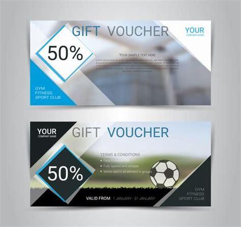 gift voucher card  banner web template  blurred