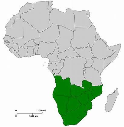 Africa Southern Svg Map Afrika Blank Erythrocephala