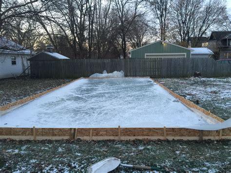 backyard hockey rink diy backyard rink make