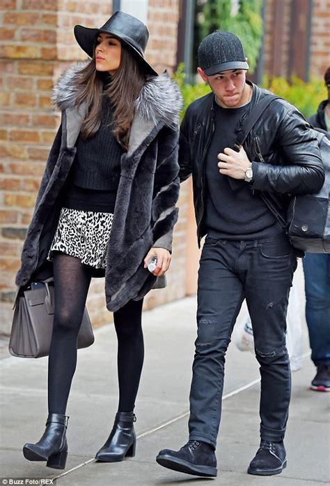 Nick Jonas Olivia Culpo Step Out Nyc Wearing