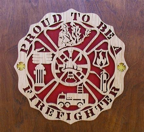 proud    firefighter plaque  gold