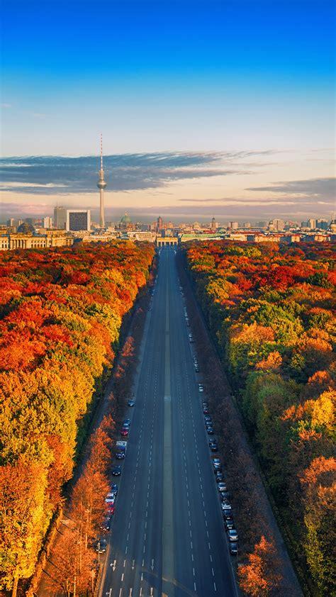 wallpaper autumn berlin germany cityscape  world