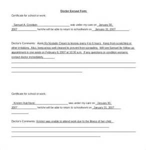 Medical Doctors Note Template